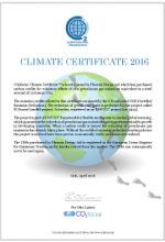 Climate Certificate