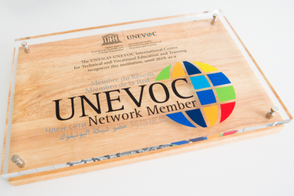 Plaque for UNESCO/ UNEVOC member institutions