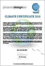 Climate Certificate X