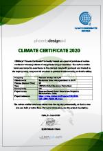 Climate Certificate Phoenix Design Aid