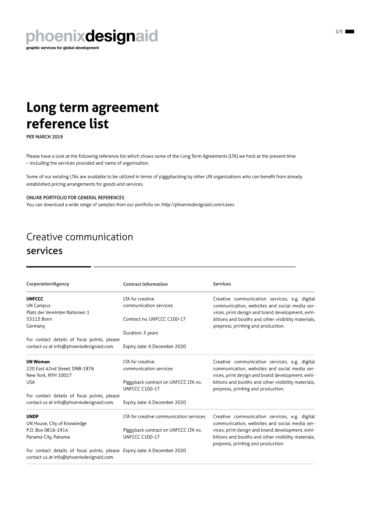 Long Term Agreements